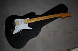 Ingrosso 2020 Spedizione gratuita Top Quality Stratocaster made in usa 6 corde nero HSH chitarra elettrica corpo personalizzato