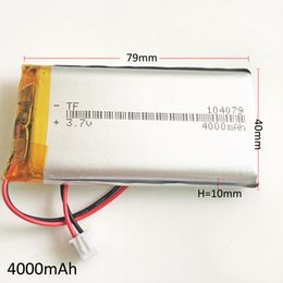 $enCountryForm.capitalKeyWord Australia - Model 104079 3.7V 4000mAh Lithium Polymer LiPo Rechargeable Battery with JST 2.54mm For DVD PAD Mobile phone GPS Power bank Camera Notebook