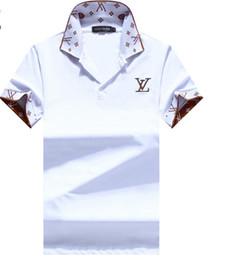 Опт Мужская рубашка поло Medusa с коротким рукавом Модный принт Slim Fit Женщины Дизайнерское поло с белой вышивкой Bee tiger Повседневная черная рубашка поло