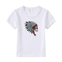 Skull T Shirt Baby Australia - Skeleton Hip Hop Kids T-Shirt Punk Shirts Children Boys Girls Funny Skull Baby T Shirts Summer New Clothes