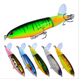 saltwater trolling lures NZ - Top Quality 8Pcs Set Propeller Tractor Hard Bait Fishing Lures Artificial Bait Fishing 11cm 15G-#6 Hook