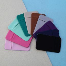 $enCountryForm.capitalKeyWord Australia - Soft Sock Wallet Credit Card Cash Pocket Sticker Lycra Adhesive Holder Money Pouch Mobile Phone 3M Gadget iphone Samsung huawei