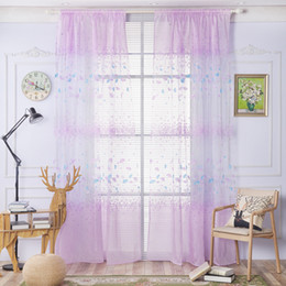 $enCountryForm.capitalKeyWord NZ - Floral Tulle Curtains Window Screening Ginkgo Biloba Blackout Sheer Curtains For Living Room Kids Room Balcony Decoration Drape