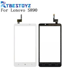 $enCountryForm.capitalKeyWord Australia - RTBESTOYZ Mobile Phone Touch Glass S890 For Lenovo S890 Touch Screen Digitizer Panel Front Outer Glass Lens Sensor