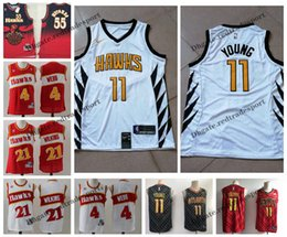 d3cc7b259ca 2019 Earned #11 Atlanta Trae Young Spud Webb Dominique Wilkins Hawks  Edition Basketball Jerseys #55 City Dikembe Mutombo Stitched Shirts