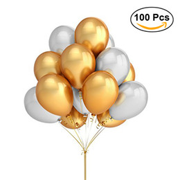 party supplies round balloons Australia - 100 Pcs 16inch Round Pearlescent Thicken Latex Balloons Wedding Decoration Helium Balloon Inflatable Air Balls Party Supplies