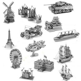 Wholesale 3D Metal Puzzles Model DIY Laser Cut Manual Jigsaw Kits For Adults Children KIDS Collectional Educational Toys Hobbies DLH165