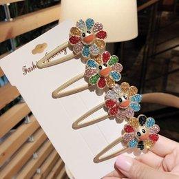 $enCountryForm.capitalKeyWord Australia - cute flower girls hair clips rhinestone designer hair clips women designer hair accessories for women BB clips kids barrettes A7303
