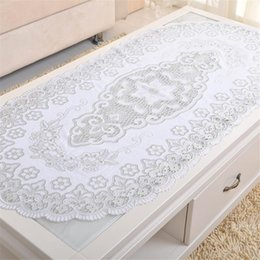 Kitchen Place Mats NZ - Luxury Golden Silver Organza Embroidered Tablecloth Kitchen Tool Coffee Place Mat Party Tableware Decoration