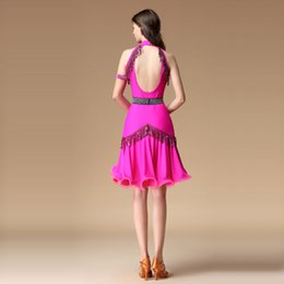 $enCountryForm.capitalKeyWord Australia - New Sexy Deep V Neck Women Latin Dance Dress Latin Dance Practice Costume Adult Performance Skirt 4 Piece Outfit Black