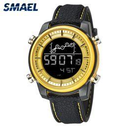 Smael Watches Australia - SMAEL Top Brand Men Watch Waterproof 50m Smart Digital watch sport army Clock Men Silicone Casual Wristwatch