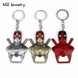 wholesale copper kitchen Australia - Deadpool Mask Bottle Opener Keychain Dining Room Kitchen Bar Gadgets Men Women Accessories Dropshipping