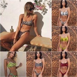 $enCountryForm.capitalKeyWord Australia - Women Snake Leopard Print Bikini Fission Swimming Suit Padded Bra Set Swimsuit Summer Beach Wear Bathing Suit Fashion Women Clothes