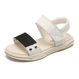 White Infant Sandals UK - Brand Hot Sale Boy Sandals Summer PU Soft Design Baby Infant Toddler Fashion Boy No-Slip Beach Play Shoes