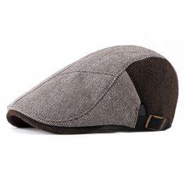 004fb91bc95 2018 Autumn And Winter Berets Driving Golf Cap Newsboy Caps Men Women  Fashion Stripe Casual Cabbie Hats Keep Warm Casquette