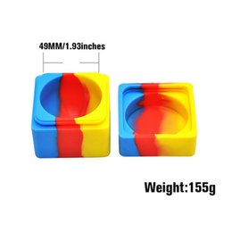 Chinese  Large Square Shaped Silicone Jars Dab Wax Container Non-Stick 60ML 60*60mm FDA BHO Oil Container Silicon Dab Wax Storage Concentrates manufacturers