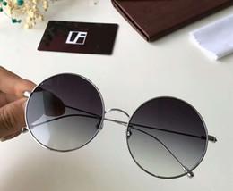 d7ea1f5e312 Linda Farrow Sunglasses UK - Linda Farrow Round Sunglasses Silver Grey  Shaded Sun Glasses Women Fashion