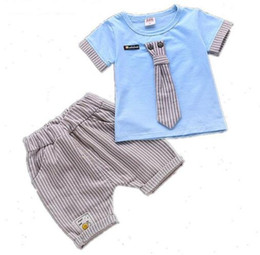 microfiber shirts UK - Baby Boys Clothing Set Fashion 2018 Summer Toddler Clothes Set Children T-shirt + Pant 2Pcs set Kids Handsome Suit 1 2 3 4 Years