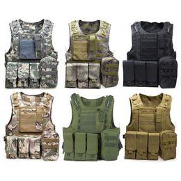 Cs taCtiCal vest online shopping - Camouflage Tactical Vest CS Army Tactical Vest Wargame Body Molle Armor Outdoors Equipment Colors D nylon