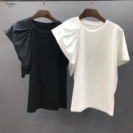 puff sleeves formal shirts Australia - Korean Shirts Spring And Puff Sleeve Summer Ruffles T Elegant Women T Shirts Cotton 2019 Street Short Solid O Neck