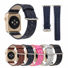 $enCountryForm.capitalKeyWord Australia - For Apple Watchbands Solid Color Grids Leather iwatch Sizes 38mm 42mm Watch Strap Bands Replacement Wrist Strap For Women Men
