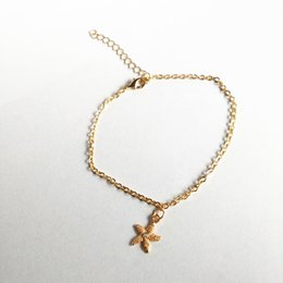 $enCountryForm.capitalKeyWord Australia - New Alloy Starfish Shape Anklet Simple Anklet Starfish Pendant Toe Bracelet Chain Foot Jewelry Good-Looking Style
