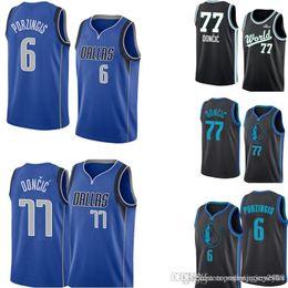 bf1426f8a Kristaps 6 Porzingis Dallas New Mavericks Jersey Mens Royal Swingman Jersey  - Icon Edition Embroidery Basketball Jerseys S-XXL