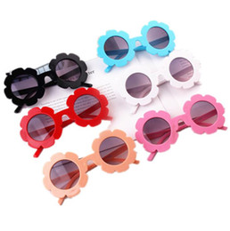Girls flower sunGlasses online shopping - Kids Sunflower Sunglasses Colors Girls Flower Shaped Cartoon Eye Protection Outdoor Beach Sun Glasses OOA6893