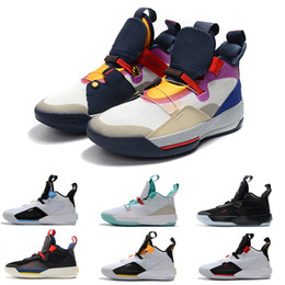 premium selection 3211f e09ac Brand Jumpman XXXIII 33 Mens Basketball Shoes 33s Men Designer Sneakers  Multicolors Black Guo Ailun Future of Flight Tech Pack Trainers 8-12