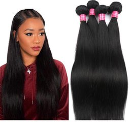 Discount best tangle free human hair Best Quality Brazilian Virgin Hair Straight natural Color 100% Unprocessed Human Hair Bundles Free Shipping Can Be Dyed