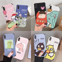 $enCountryForm.capitalKeyWord NZ - New cartoon liquid silicone mobile phone case for iphoneXS anti-drop iphone6 78plus protection mobile phone sets
