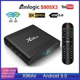 NEW X96 Air S905X3 Android 9.0 TV Box 4GB 32GB 2.4G+5.0G WIFI Better Than X96 Mini TX3 Mini on Sale