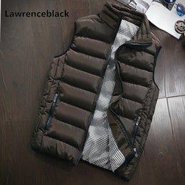 Plus Size Winter Vests Australia - Fashion Waistcoat Plus Size 5XL Autumn Winter Vest men Free shipping men's Vest Warm Sleeveless Jacket male Outerwear 960