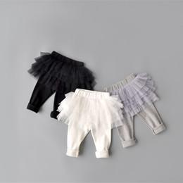 pencil cake 2019 - New Baby Girl Pants Kids Skirt Leggings Tutu Flower Ruffle Skirt Infant Candy Color Cake Skirt Leggings Honey Trousers d