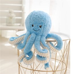 deer white pendant NZ - 10PCS 20cm Lovely Simulation octopus Pendant Plush Stuffed Toy Soft Deer Animal Home Accessories Cute Animal Doll Children Gifts