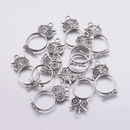 Alloy epoxy online shopping - 10pcs Alloy Open Back Bezel Pendants For DIY Making Epoxy Resin Pressed Flower Jewelry Owl Antique Silver