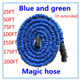 expandable hose connector Canada - Free shipping 25-200FT Garden hose with expandable water hose blue green Garden Water connector EU US [There is no spray]