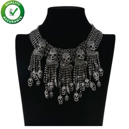 skeleton accessories Australia - Designer Collar Necklace Exaggerated Fashion Jewelry Skeleton Head Chain Women Retro Punk Skull Vintage Pirate Pendants Wedding Accessories