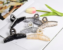 Ladies Clamps Australia - Women Hairpins Hair Clips Elegant Pearl Clamps Bobby Clips Barrettes Headwear For Ladies Girls Fashion Hair Accessories Headdress Jewelry