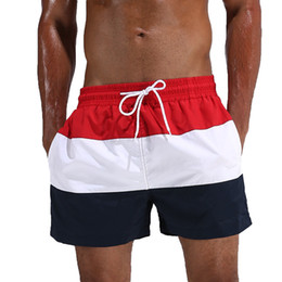 Polyester Gym Shorts Australia - Escatch Quick Dry Men's Board Shorts Summer Surf Beach Shorts Sport Swimwear Men Boardshorts Man Gym Bermuda Swimsuit C19040801