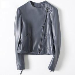 $enCountryForm.capitalKeyWord Australia - [Long-term stock] 2019 autumn and winter new leather leather women short sheep leather coat motorcycle clothing W