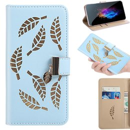 leaving cards Australia - For iPhone 11 11 Pro Flip Cover Stand Wallet Case For iPhone 11 Pro Max With Card Slots Hollow Out Gold Leaves
