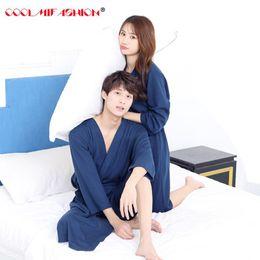6f1503fcf8 Lovers Summer Water Absorption Cotton Towel Bath Robe Woman Sexy Kimono Waffle  Bathrobe Mens Sleepwear Dressing Gown Male Robes