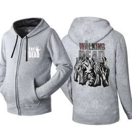 $enCountryForm.capitalKeyWord Australia - Walking dead Zippered Hoodie Sweatshirt Cardigan Jacket Male Hip Hop Tracksuits Autumn Hoodies Cardigan Jackets Tracksuit