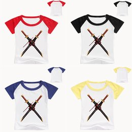 Discount 12y clothes - NARUTO Kids T-shirts 4 colors 1-12y Kids Boys Girls NARUTO Cartoon Printed Round Neck T-shirts kids designer clothes FJ6