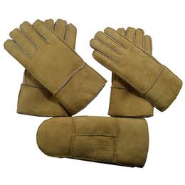 Men Gloves Leather Sheepskin Australia - Wholesale retail sale sale of men and women's winter warm outdoor sheepskin and fur leather gloves