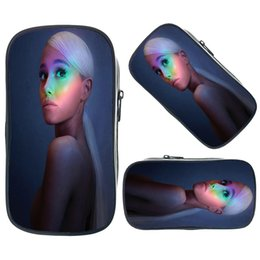 $enCountryForm.capitalKeyWord NZ - Hot Sale Ariana Grande Prints Pencil Case Stationery Supplies Pencil Bag Womens Mens Mini Make Up Bag