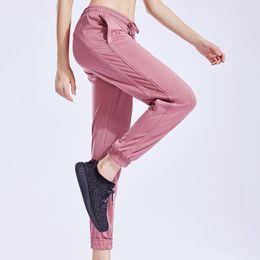 Spandex Yoga Pants UK - Girls Jogging Pants Woman Sports Pants Women Gym Fitness Running Yoga Sportswear Active Female Trouser Workout Loose