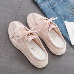 $enCountryForm.capitalKeyWord Australia - Summer Women Shoes Mesh Solid Flats Fashion Sneakers Platform Lace-up Breathable Luxury Ladies Shoes Slip on for Women