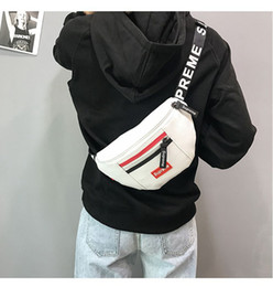 Wholesale 25x7x15CM Women Men PU Fanny Pack Waistpacks Fannypack Fashion Corssbody Chest Waist Belt Bags Corss Body Sport Packs Sling Shoulder Bag BA1